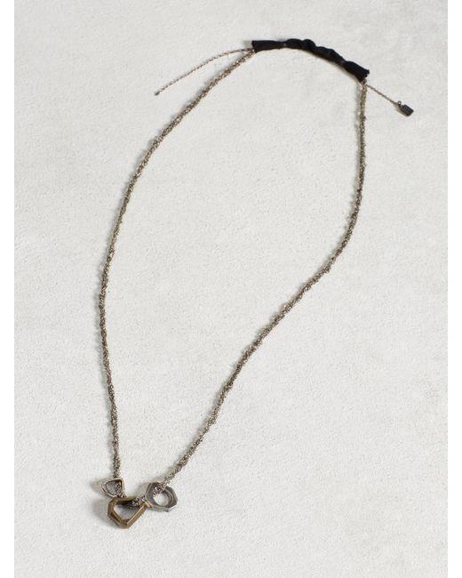 John Varvatos | Metallic Brass Open Link Necklace for Men | Lyst