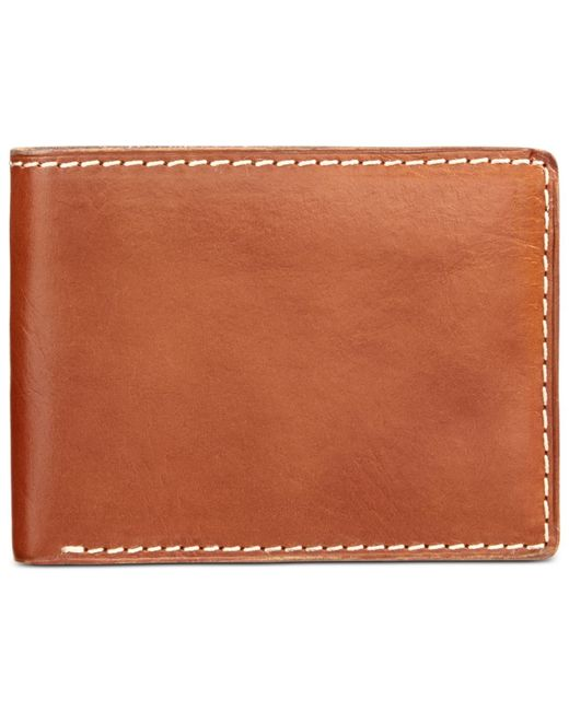Patricia Nash | Brown Nash By Men's Heritage Leather Double Billfold Id Wallet | Lyst