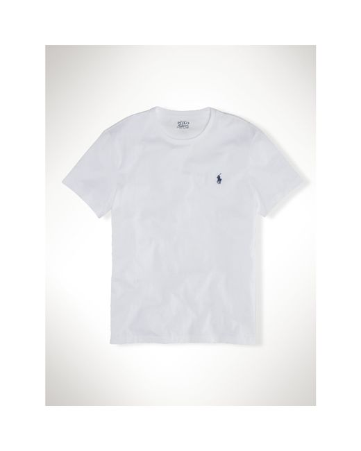 Polo Ralph Lauren   White Custom-fit Cotton T-shirt for Men   Lyst