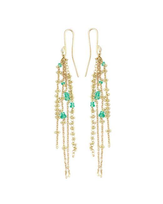Natasha Collis | Metallic 'waterfall Emerald Pin' Earrings | Lyst