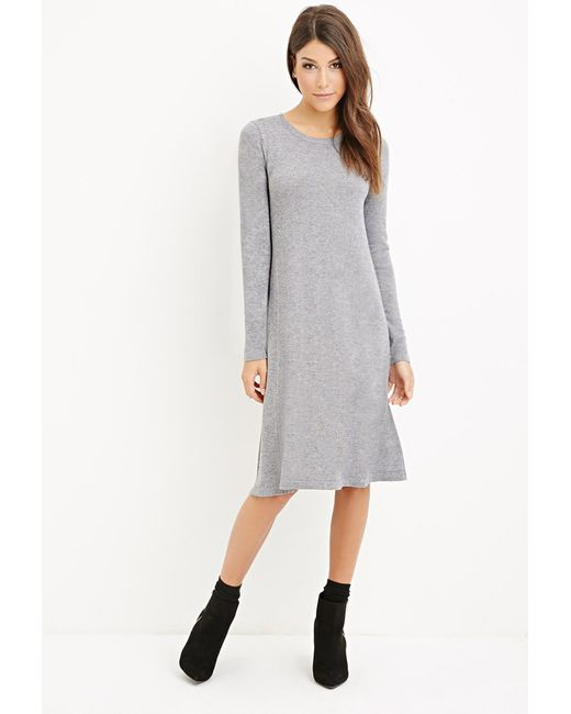 Forever 21 | Gray Midi T-shirt Dress You've Been Added To The Waitlist | Lyst
