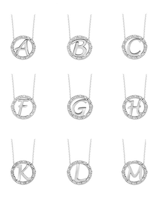 KC Designs | 14k White Gold Diamond Initial Necklace | Lyst