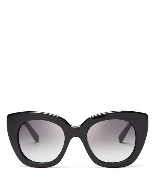 Kate Spade | Black Narelle Oversize Thick Rim Cat Eye Sunglasses, 51mm | Lyst