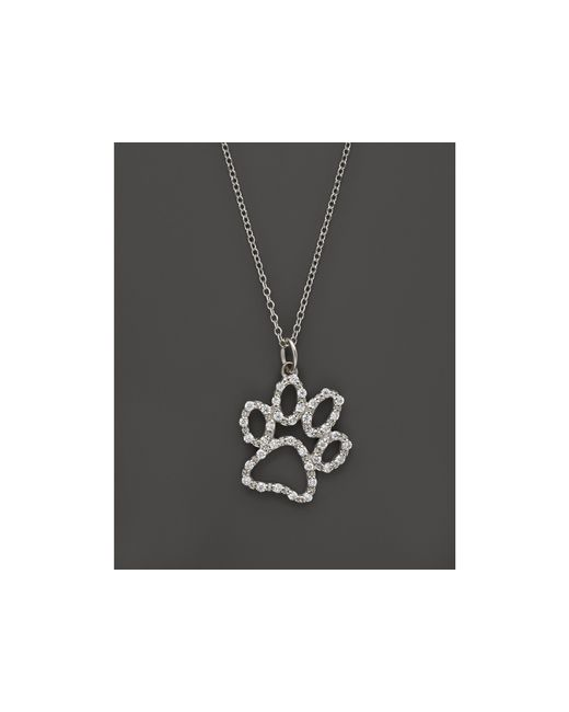 KC Designs | Diamond Paw Print Pendant Necklace In 14k White Gold, .20 Ct. T.w. | Lyst