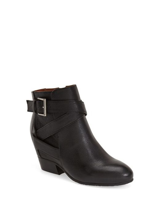 Gentle Souls | Black 'balfour' Hidden Wedge Moto Boot | Lyst