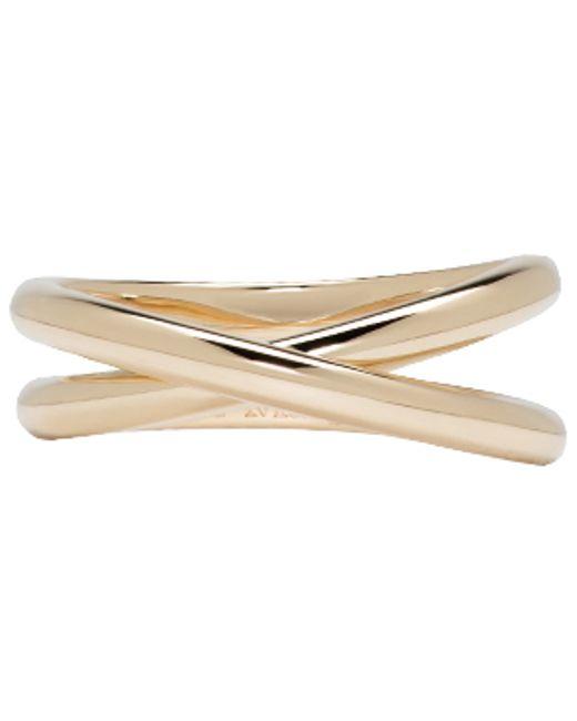 Maison Margiela | Metallic Gold Twisted Ring | Lyst