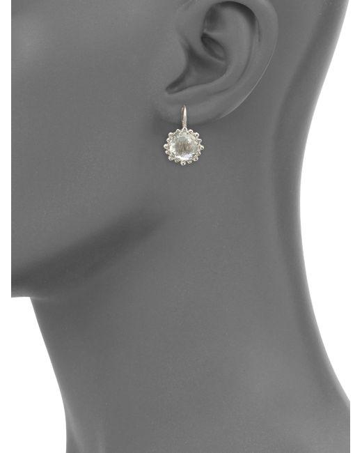 Anzie | Gray Dew Drop Snowflake White Topaz Drop Earrings | Lyst