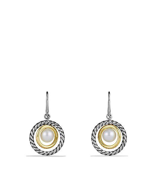 David Yurman | Metallic Mobile Drop Earrings With Pearls And 14k Gold | Lyst
