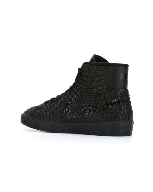 nike blazer hi top sneakers in black lyst