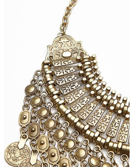 Free People   Metallic Antalya Coin Collar   Lyst