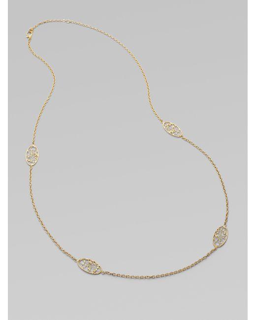 Roberto Coin | Metallic Mauresque Diamond & 18k Yellow Gold Station Necklace | Lyst
