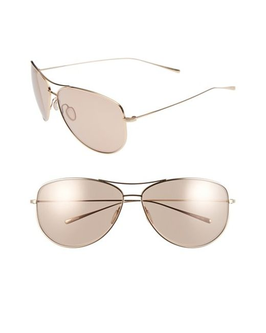 Oliver Peoples | Metallic 'kempner' 65mm Aviator Sunglasses | Lyst