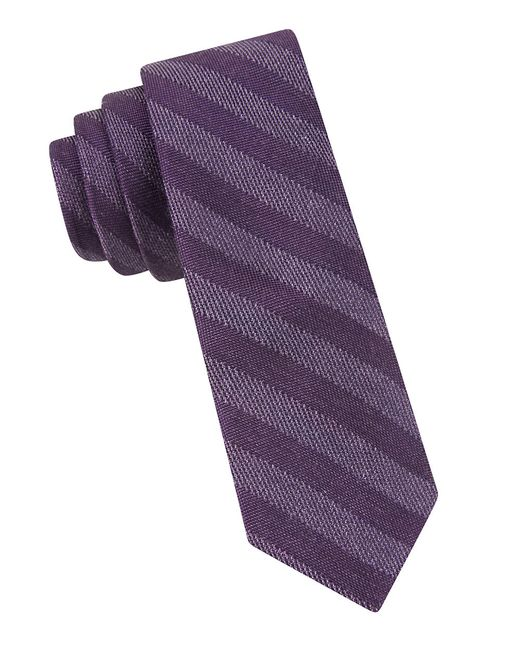 Calvin Klein | Purple Striped Tie for Men | Lyst