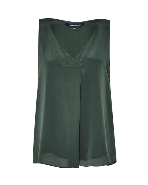French Connection | Green Sunshine Silk Sleeveless Top | Lyst