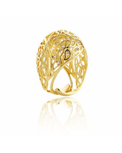 Sonal Bhaskaran | Metallic Shikhara Gold Dome Ring Clear Cz | Lyst