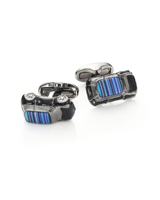 Paul Smith | Blue Striped Car Cuff Links for Men | Lyst