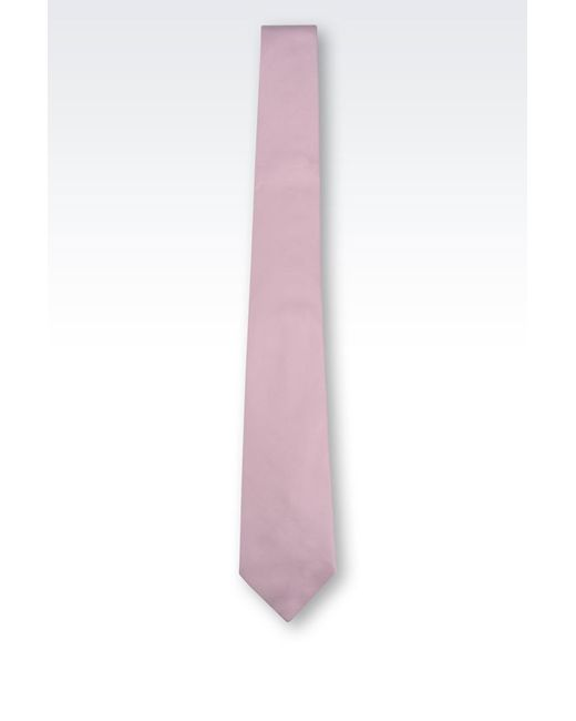 Armani | Purple Silk Tie for Men | Lyst