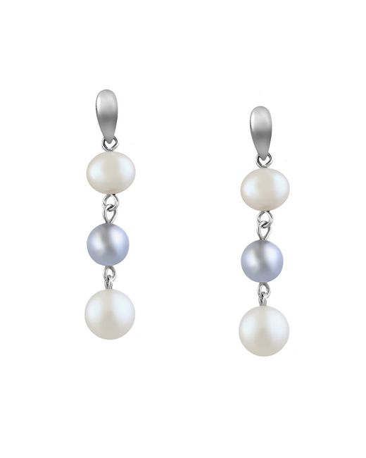 Effy | White Pearl Lace Drop Earrings, 7mm - 8mm | Lyst