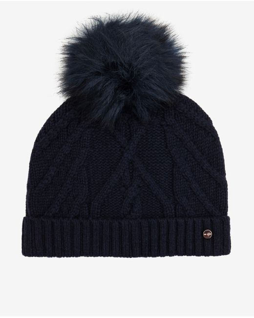 Ted Baker | Blue Pom-pom Bobble Hat | Lyst