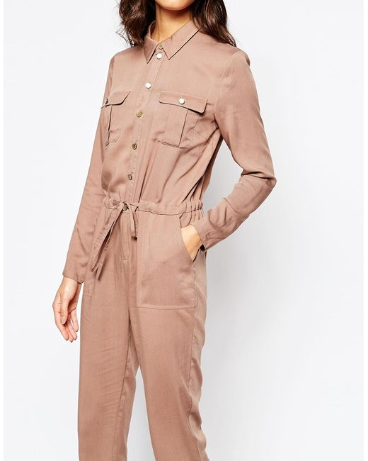 Daisy Street Utility Style Casual Jumpsuit With Pockets In