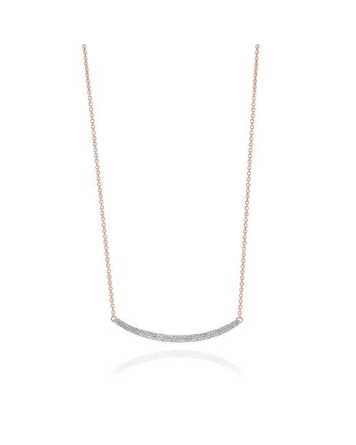 Monica Vinader   Pink Skinny Curve Necklace   Lyst