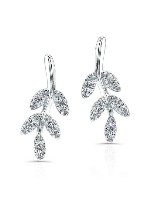 Anne Sisteron | Multicolor 14kt White Gold Diamond Ivy Stud Earrings | Lyst