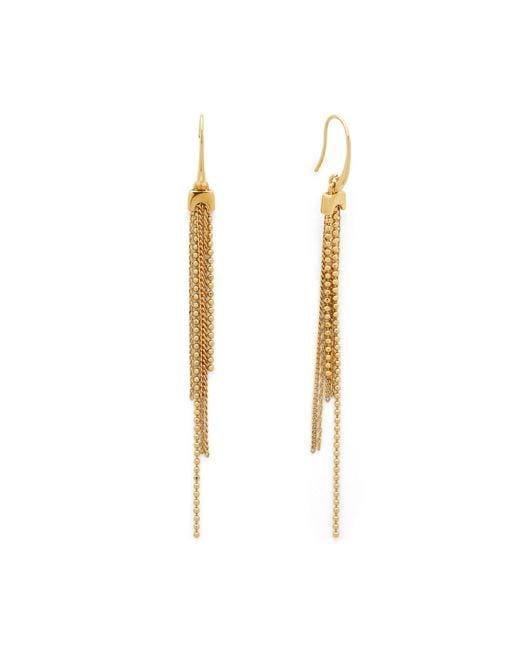 Diane von Furstenberg | Metallic Mixed Chain Linear Earrings | Lyst