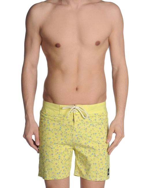 Quiksilver Swimming Trunk In Yellow For Men Save 60 Lyst