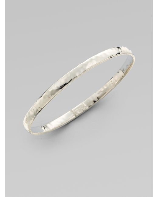 Ippolita | Metallic Glamazon Sterling Silver Flat Bangle Bracelet | Lyst