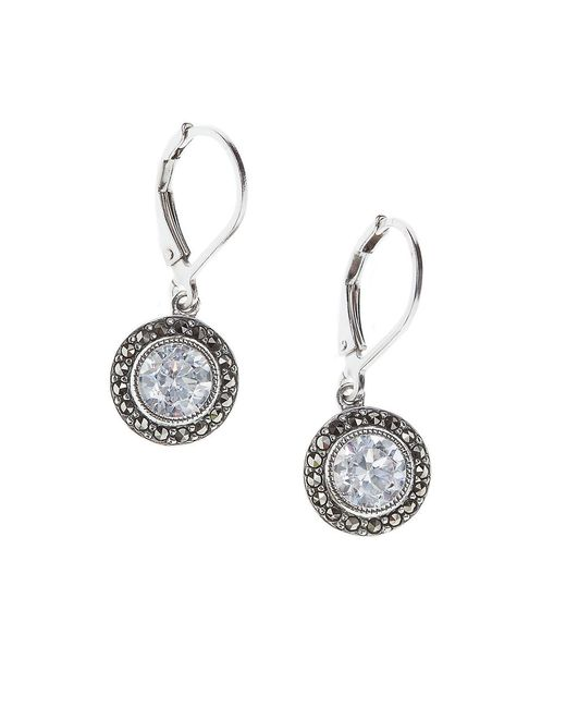 judith jack cubic zirconia and marcasite drop earrings in