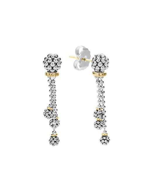 Lagos   Metallic 18k Gold Caviar Forever Tassel Earrings   Lyst