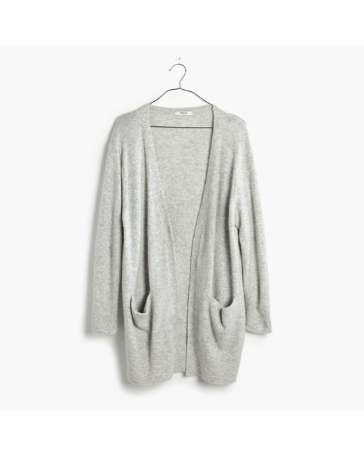 Madewell | Gray Ryder Cardigan Sweater | Lyst
