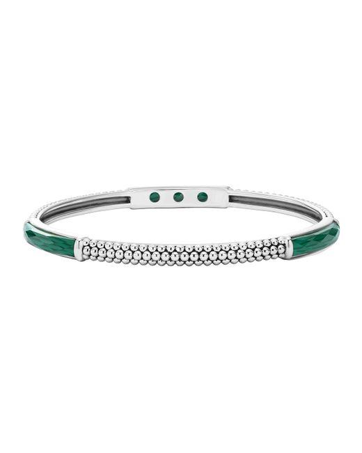 Lagos   Green Maya Silver Thin Bangle Bracelet   Lyst