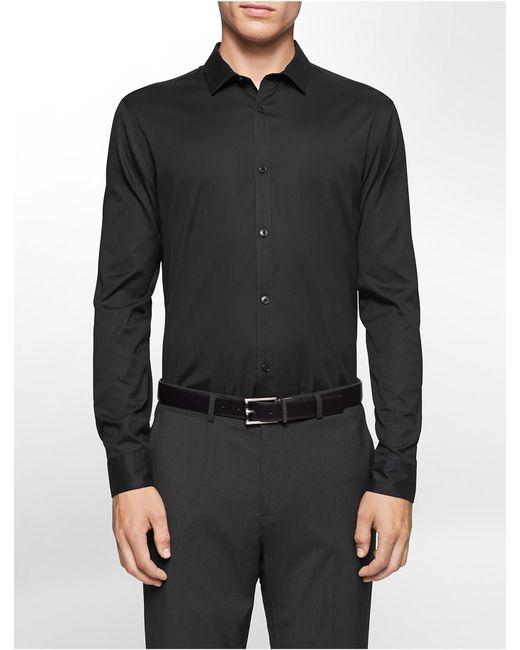 Calvin Klein | Black Classic Fit Cool Tech Oxford Shirt for Men | Lyst