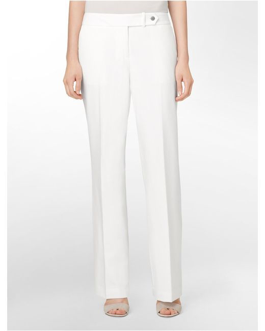 Calvin Klein | Natural Essential Straight Cream Suit Pants | Lyst