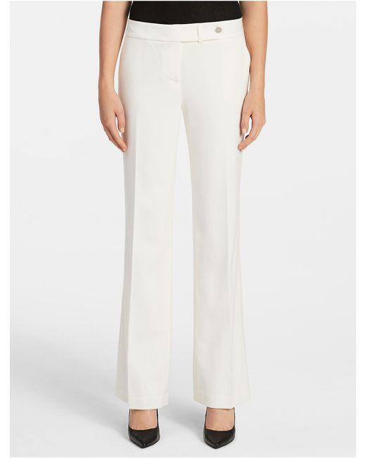 Calvin Klein | Natural Essential Straight Cream Suit Pants | Lyst