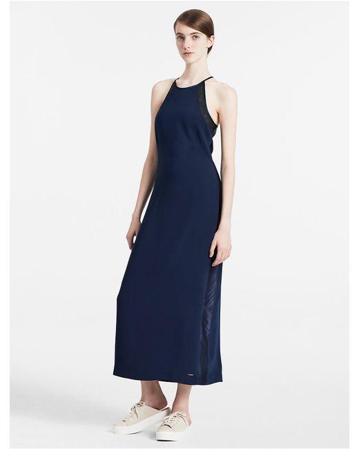 Calvin klein maxi dress blue