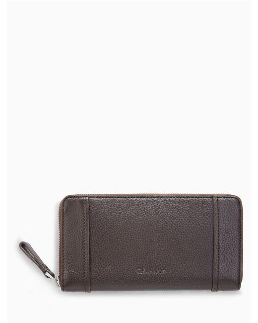 Calvin Klein | Multicolor Pebble Large Zip Wallet | Lyst