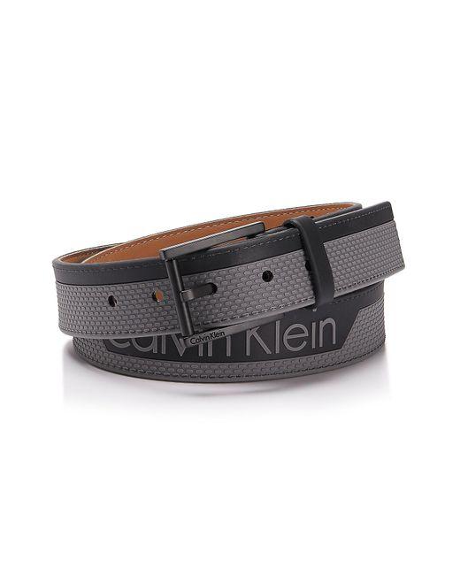 Calvin Klein   Gray Textured Rubber Belt   Lyst