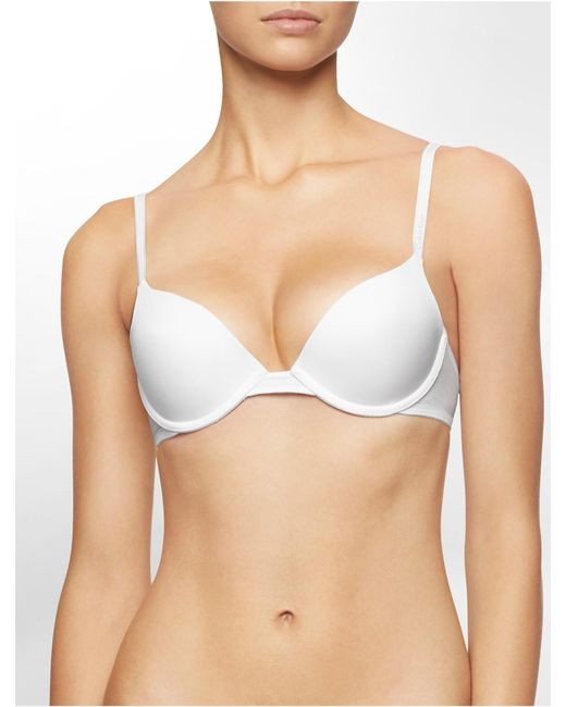 Calvin Klein | White Underwear Essentials Push-up Bra | Lyst