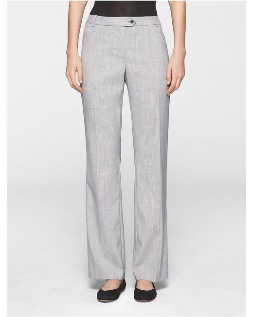 Calvin Klein | Multicolor Straight Fit Glen Plaid Pants | Lyst