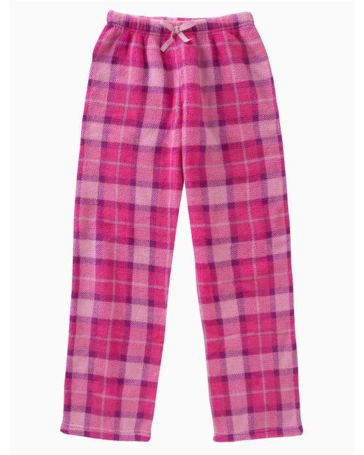 CALVIN KLEIN 205W39NYC - Pink Girls Plush Plaid Pants - Lyst