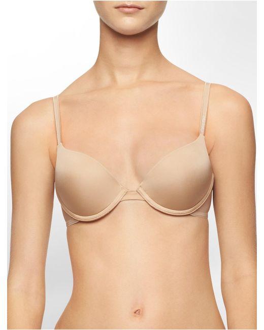 Calvin Klein - Natural Underwear Essentials Push-up Bra - Lyst