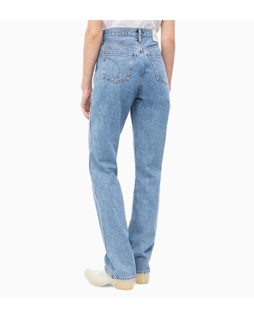 ... Calvin Klein - Blue Ckj 030 High Rise Straight Jeans - Lyst ... de66f16d9b