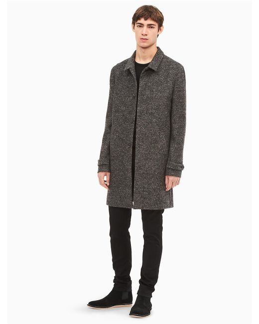 Calvin Klein | Gray Heather Wool Blend Jacket for Men | Lyst