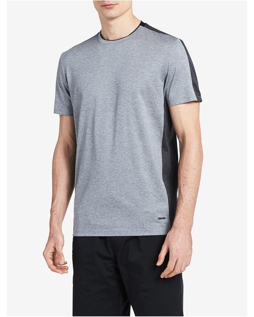CALVIN KLEIN 205W39NYC - Gray Premium Slim Fit Colorblock T-shirt for Men - Lyst