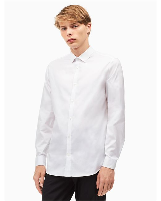 CALVIN KLEIN 205W39NYC - White Classic Fit Cool Tech Oxford Shirt for Men - Lyst