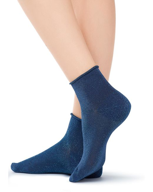 Calzedonia - Blue Short Trendy Patterned Socks - Lyst