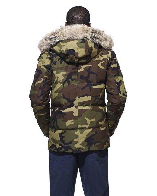 Canada Goose langford parka sale price - Canada goose Wyndham Parka in Green for Men (Classic Camo) | Lyst