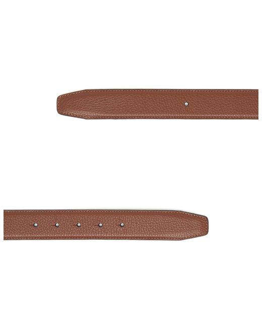 Canali - Brown Cognac Tumbled Calfskin Belt Strap for Men - Lyst